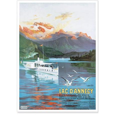 Affiche - Le Lac d'Annecy - PLM