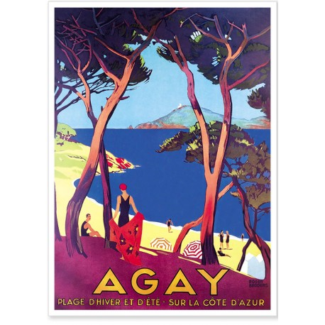 Affiche - Agay - Plage - PLM
