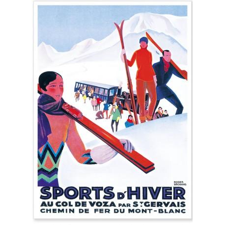 Affiche - Saint-Gervais - Col de Voza - PLM