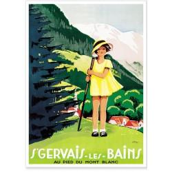 Affiche - Saint-Gervais - La fillette - PLM