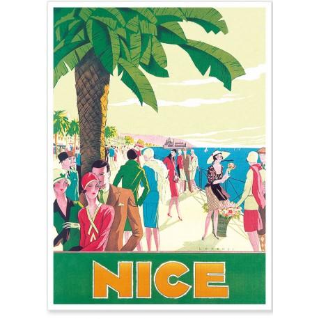 Affiche - Nice - Promenade animée - PLM