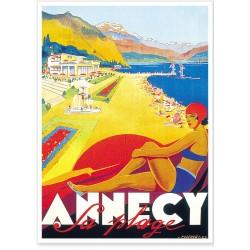 Affiche - Annecy Plage