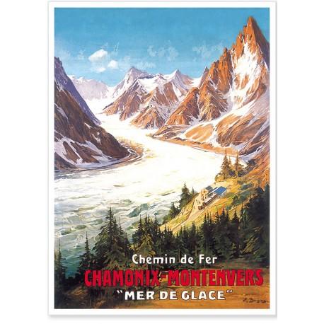 Affiche - Chamonix - La Mer de Glace - PLM