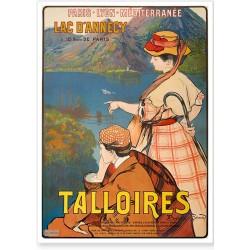 Affiche - Talloires Le Lac d'Annecy (fin de série)