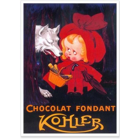 Affiche - Chaperon rouge Chocolat - Kohler