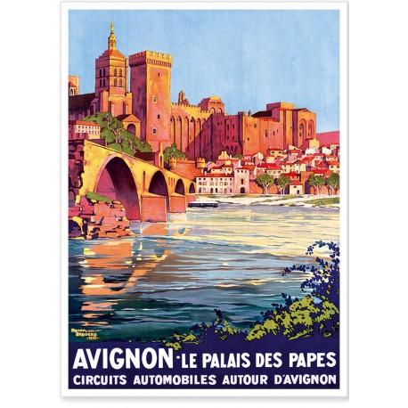 Affiche - Avignon - Le Palais des Papes - PLM