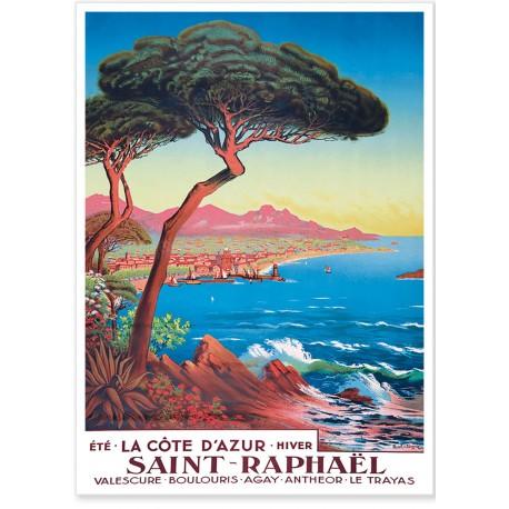 Affiche - Saint-Raphaël - Été hiver - PLM
