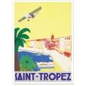 Affiche - Saint-Tropez - L'avion
