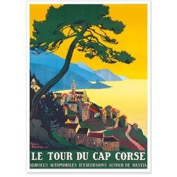 Affiche - Corse - Le tour du Cap