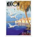 Affiche - Vue sur la ville de Menton