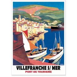 Affiche - Port de Villefranche sur Mer