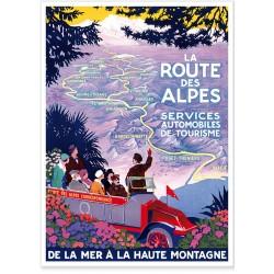 Affiche - La route des Alpes