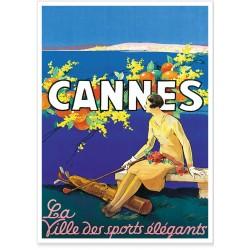 Affiche - Cannes ville des sports élégants