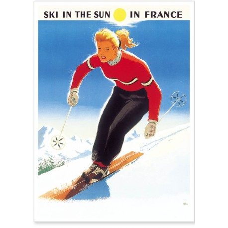 Affiche - Ski in the sun - SNCF