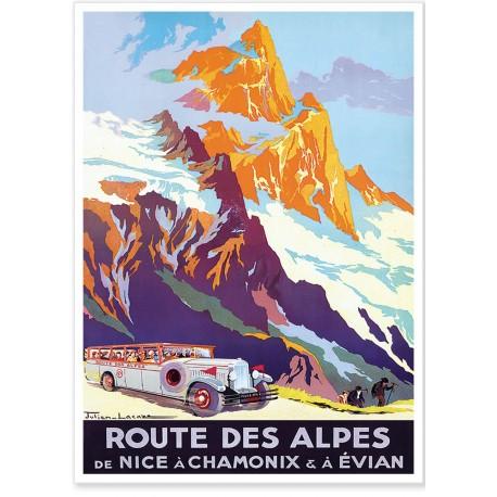 Affiche - Route des Alpes - PLM