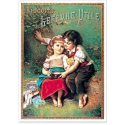 Affiche - Les amoureux - Biscuits Lu