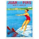 Affiche - Ski nautique à Juan-les-Pins