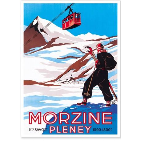 Affiche - Morzine - En haut des pistes - PLM