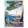 Affiche - Toulon - Côte d'Azur Varoise