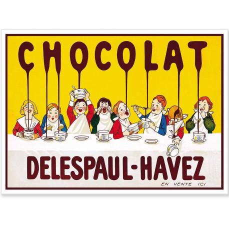 Affiche - Tablée d'enfants - Chocolat Delespaul-Havez