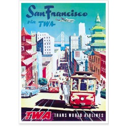 Affiche - San Francisco Cable cars