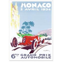 Affiche - Grand Prix de Monaco de 1934 - Ville de Monaco