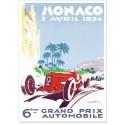 Affiche - Grand Prix de Monaco de 1934