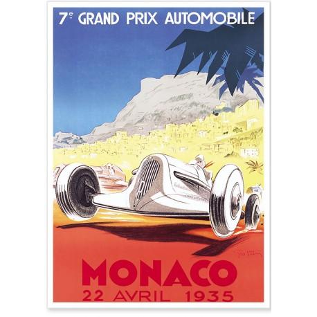 Affiche - Grand Prix de Monaco de 1935 - Ville de Monaco