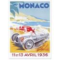 Affiche - Grand Prix de Monaco de 1936