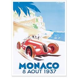 Affiche - Grand Prix de Monaco de 1937 - Ville de Monaco