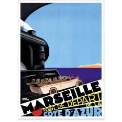 Affiche - Marseille - Point de départ - PLM