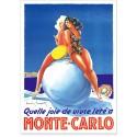 Affiche - Vivre l'été à Monte-Carlo