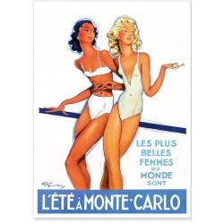 Affiche - L'été à Monte-Carlo - Ville de Monte-Carlo