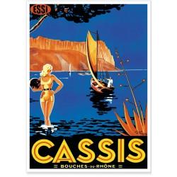 Affiche - Cassis - Scène d'été - Havas
