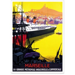 Affiche - Port de Marseille - PLM