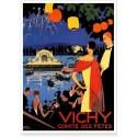 Affiche - Vichy - Fête sur le lac