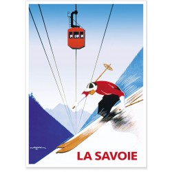 Affiche - Savoie Téléphérique