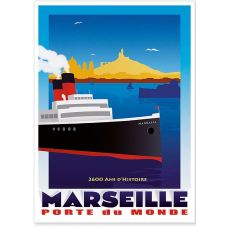 Affiche - Marseille Porte du Monde