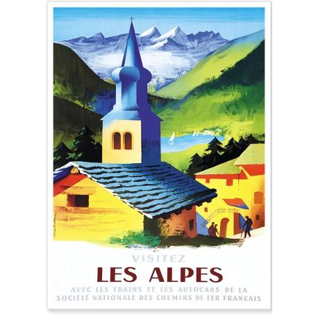Affiche - Visitez les Alpes