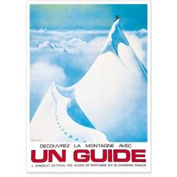 Affiche - Un guide - Chamonix
