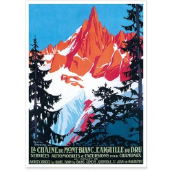 Affiche - La chaîne du Mont Blanc