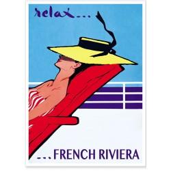 Affiche - Relax sur la Côte d'Azur