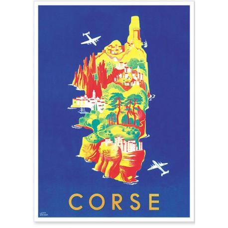 Affiche - Carte Touristique de Corse