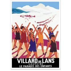 Affiche - Villard-de-Lans le Paradis des Enfants