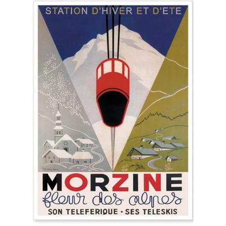 Affiche - Morzine fleur des Alpes - Ville de Morzine