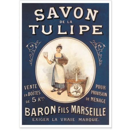 Affiche - Lavandière - Savon la Tulipe