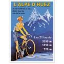 Affiche - L'Alpe d'Huez - Le grimpeur
