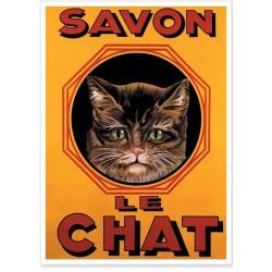 Affiche - Le chat - Savon Le Chat