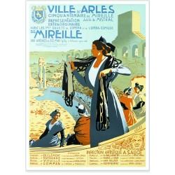 Affiche - Arles Le Jubilé de Frédéric Mistral (fin de série)