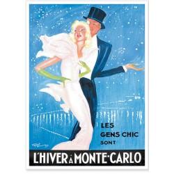 Affiche - L'hiver à Monte-Carlo